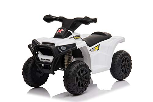 Toy House Kiddy's Beach ATV Rechargeable Battery Operator Ride-On Bike for Kids (2 to 4YRS), White (Model Number: THROB217W)