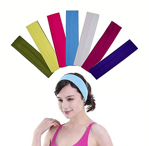 Kabello Cotton Terry Cloth Sweatband For Tennis Basketball Gym Working Out Head Bands For Girls