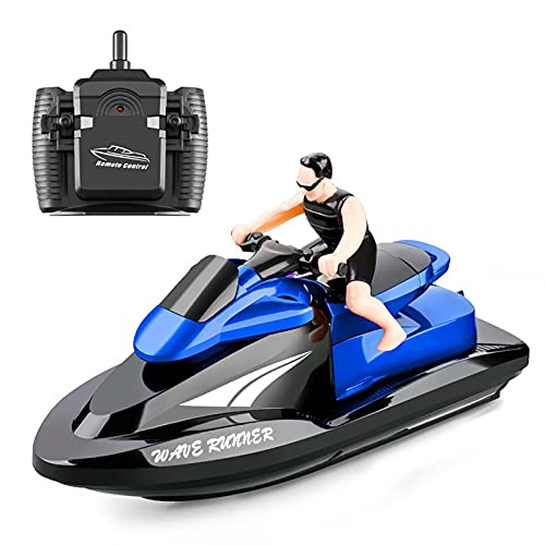 Decdeal 809 RC Motorboat RC Boat High Speed Remote Control Boat for Pools Lakes 2.4Ghz Waterproof Toy for Kids Boys and Girls