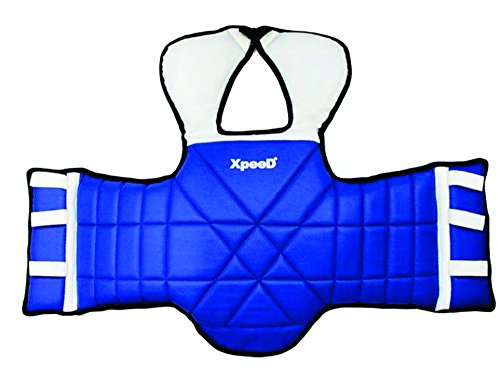 XpeeD Kickboxing Karate MMA, Muay Thai, Boxing, Sanda, Judo Training Chest Guard Body Shield Kick Boxing Body Support Taekwondo Wrestling Mixed Martial Arts Fight Reversible Chest Guard Protector With Two Color In Free Size