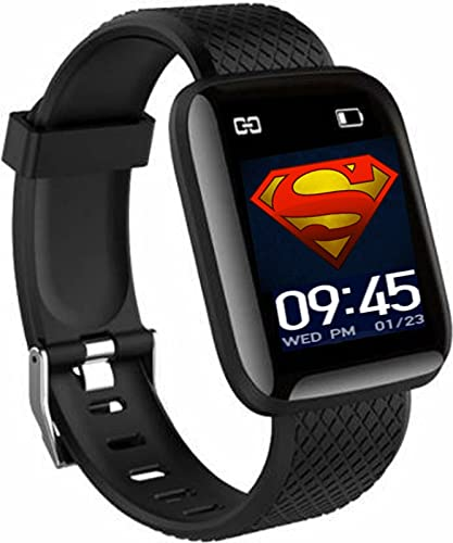 HUG PUPPY Bluetooth Wireless Smart Fitness Watch for Boys,Men,Kids,Women Sports Watch Heart Rate, and BP Monitor, Calories Counter