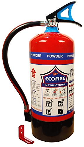 Eco Fire Abc Powder Type 6 Kg Fire Extinguisher (Red and Black)