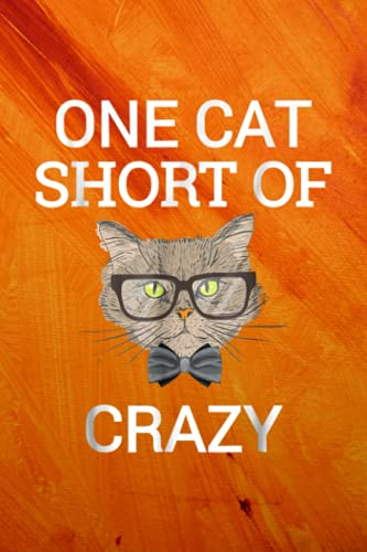 Scuba Diving Notebook Funny One Cat Short of Crazy Kit.ty