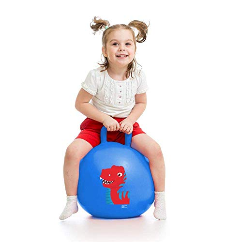 Storio Sit and Bounce Rubber Hop Ball for Boys Girls Toys | Balls for Kids (Size Medium,Multicolour)
