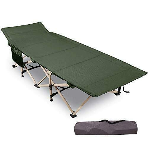 FEELING MALL Foldable Camping Bed Outdoor Portable Bed for Travel, Base Camp, Hiking, Mountaineering, Hospital, Beach, Travel Bed, Farm