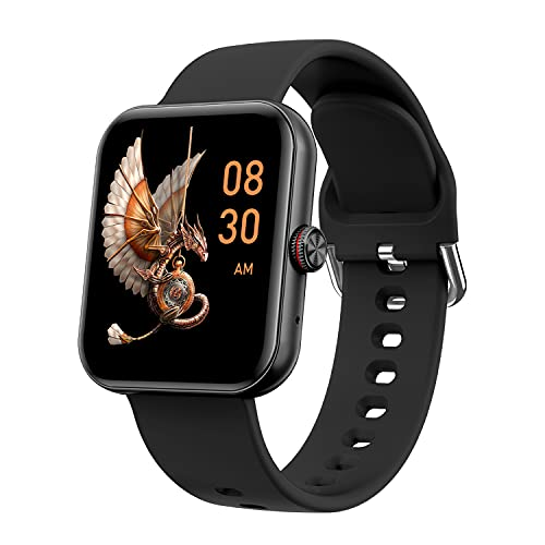 Crossbeats Ignite S3 1.7' Bluetooth Calling Smart Watch Full Touch Men Women Fitness Tracker Blood Pressure Blood Oxygen Heart Rate Monitor for iPhone Samsung Android (Carbon Black)