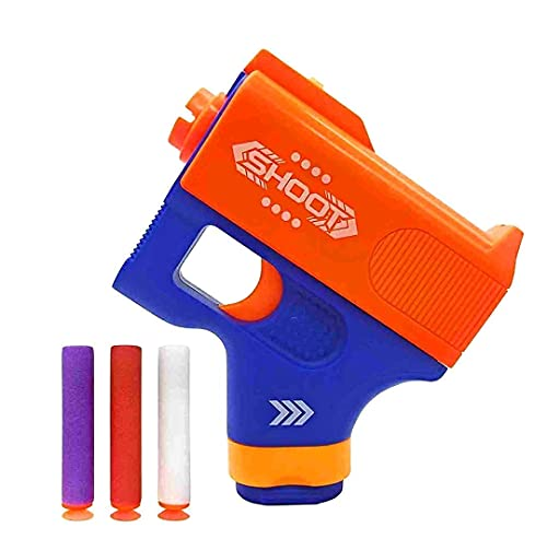 MEOL Mini Blaster Gun Manual Soft Bullet Gun with 3 Pcs Safe Foam Bullets Cheapest Game for Pretend Target Shooting Easy to Play Powerful Accuracy and Velocity. Free Smiley Keychain