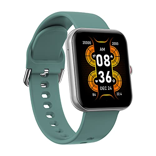 Crossbeats Ignite S3 1.7' Bluetooth Calling Smart Watch Full Touch Men Women Fitness Tracker Blood Pressure Blood Oxygen Heart Rate Monitor for iPhone Samsung Android (Sea Green)