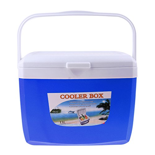 Anbau Camping Outdoor Drinks Food Cooler Box Car Ice Bucket with Handle 13L Blue