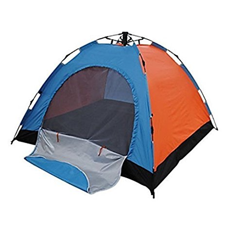 IRIS Instant Pop Up Tents, 4 Person Automatic Hydraulic Family Tents, Waterproof Backpacking Tents for Outdoor Sports Camping Hiking Ultralight with Zippered Door and Carrying Bag ( 200 X 200 X 135 cm)