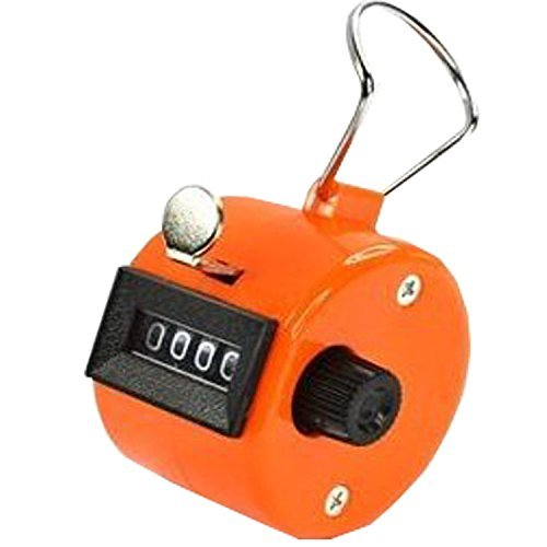 ADD GEAR Resettable Lap Counter 4 Digit Counting Machine Heavy Duty Manual Click Pooja Mantra Jap Tasbeeh Chanting Finger Counter Tallyy (Orange)