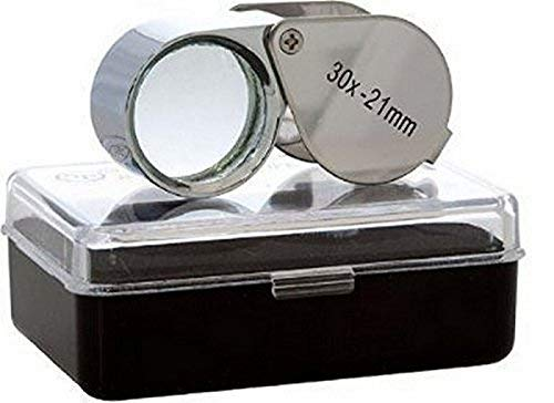 DIY Crafts Loupes Mini Microscope Jewelers Eye Loupe Magnifier Magnifying Glass Powerful Doublet, Chrome Plated, Round Body Jewelry Loupe (Pack Of 1 pc, Design No # 1)