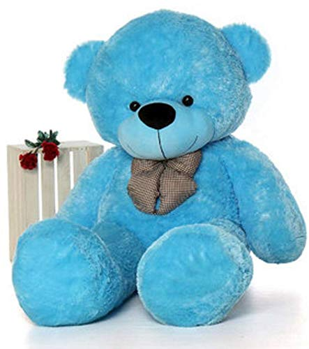 DADDY TEDDY 3 Feet New Cute Small Teddy for New Year and Christmas Light Blue