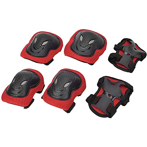 FABSPORTS Knee & Elbow Pads/Guards for 10 Years & Above Protective Gear Set for Roller Skates, Cycling, BMX Bike, Skateboard, Scooter Riding for Outdoor Sports