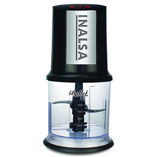 Inalsa Bullet 400W Chopper with Twin Blade, Black