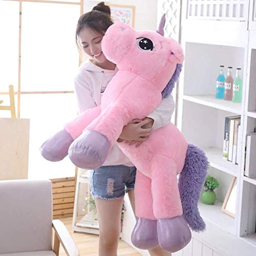 Besties Big Size Funny Unicorn Stuffed Animal Plush Toy, 100CM (Pink) 100% Safe For Kids Made in India (100cm, Pink)