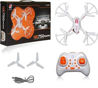 RKP™ HX750 Drone 2.4 Ghz 6 Channel Remote Control Quadcopter Without Camera for Kids- White