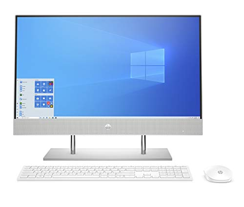 HP AIO Intel Core i5 10th Gen 23.8 inches FHD with Alexa Built-in Business, Laptop (8GB/256 GB SSD+1TB HDD/Windows 10/MS Office 2019/Natural Silver, 5.85 kg) 24-dp0813in