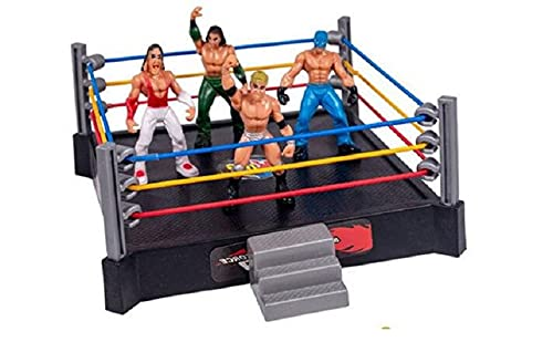 WOW King of the Ring 4 Random WWE royal wrestling Fighter model toy figures with Arena set up power force warriors raw