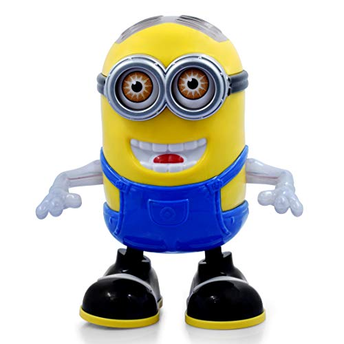 BACKGAMMON® Dancing Minion Toy Musical Toys with 3D Flashing Lights & Music, Activity Play Centre Toys for Children, 360 Degree Rotation Multicolor (Dancing Minion)