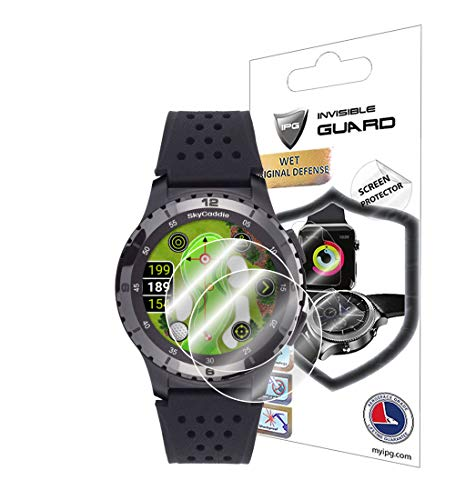 IPG for SkyCaddie LX5 GPS Golf Watch Screen Protector (2 Units) Invisible Ultra HD Clear Film Anti Scratch Guard-Smooth/Self-Healing/Bubble -Free for LX5