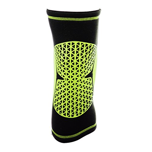 Imported Sports Knee Support Sleeve Basketball Soccer Running Cycling Kneepad Brace L
