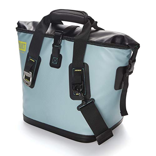 BUILT 5238361 Welded Cooler Insulated Leak-Proof Soft Bag with Wide Mouth Opening, Large, Pewter Lily Gray