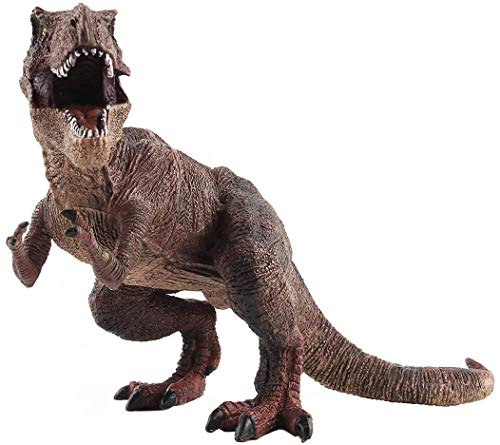 PATPAT® Dinosaur Action Figures Dinosaur Toys Kids Toys for 4 + Years Boys Gifts for Kids on Birthday (31 X 17 X 13 cm, Brown Tyrannosaurus)