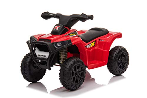 Toy House Kiddy's Beach ATV Rechargeable Battery Operator Ride-On Bike for Kids (2 to 4YRS), Red (THROB217R)