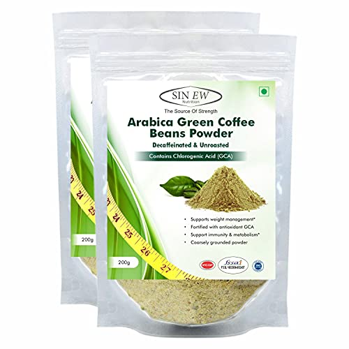 Sinew Nutrition Green Coffee Beans Powder for Weight Loss - 200 g (Pack of 2)