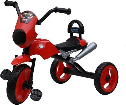 JoyRide Bullet Tricycle 2-5 Year Old Boys Girls Kids and Toddlers First Bike Birthday Gift (Red) Made in India