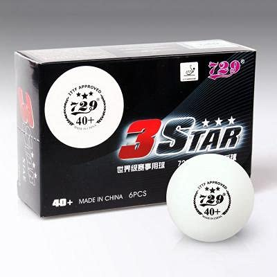 729 Seamless Table Tennis Balls 3 Star 40 + ITTF Approved   Power & Spin   Bounce Roundness and Excellent Durability,Pack of 06