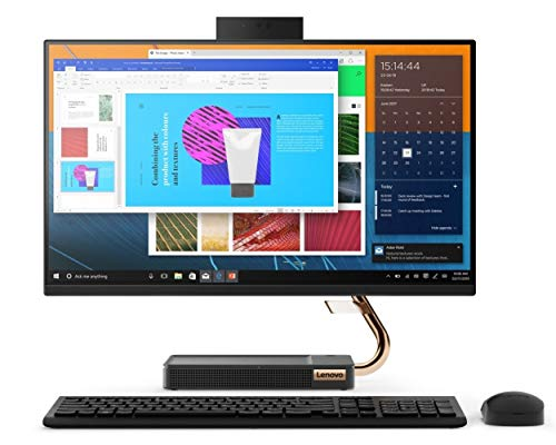 """Lenovo IdeaCentre AIO 5 23.8"""" FHD IPS Touchscreen All-in-One Desktop (10th Gen Core i7/16GB/2TB HDD + 512GB SSD/Win10/Office/MX 330 2GB Graphics/JBL with Woofer/Wireless Charging Pad for Smartphone)"""
