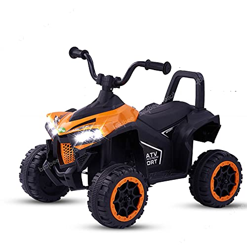 Baybee Monstro ATV Kids Car Baby Toy Car Rechargeable Battery Operated Ride on car for Kids with Electric Motor Car for Kids Cars, Baby Car for Boys & Girls Age 1-3 Years (Orange)