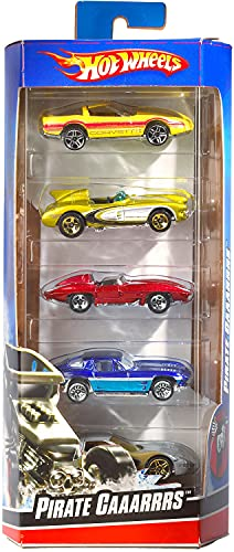 Hot Wheels 5 Car Gift Pack, Metal Cars (Styles May Vary) Multicolor
