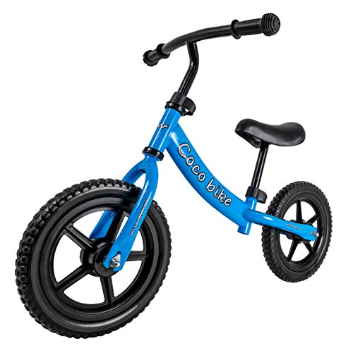 CARRYWHEELS Unisex Carbon Steel Frame Coco Balance Road Bike with Tubeless Wheels (42cm, Blue) - Ages 1.5 to 5 Years