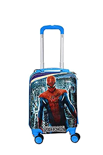 Divs Edenic Polycarbonate 360 Rotating Wheels Cartoon Print (Spider ) Printed Pattern Extra Light Weight for Girls/Kids Trolley Bag (Multi-Pink)21 inch