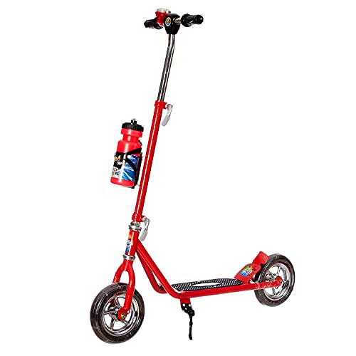 Dash Power Ranger 2 Wheel Scooter for Kids with Sipper, Bell, Stand and Adjustable Height Upto 12 Years Kids (Capacity 60 kg, Red)