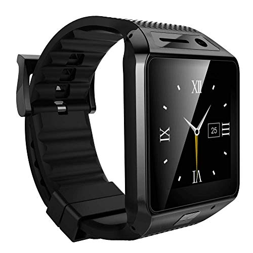 WellWell Compatible with Bluetooth M9 Touch Screen Smartwatch with Camera Sim Card Support Apps Whatsapp Pedometer and Activity Trackers All Android and iOS mobiles Pc & Tablets