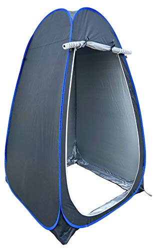 HOMECUTE polyester Foldable Portable Pop up Cloth Changing Tent or Toilet Tent for 1 Person - Black