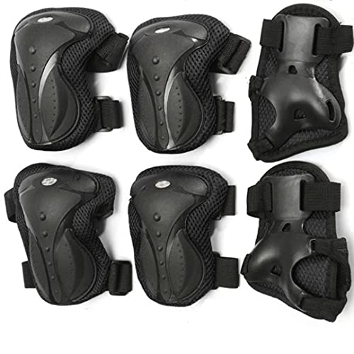 FABSPORTS Premium Knee, Elbow & Wrist Pads/Guards Combo for 10 Years & Above, Protective Gear Set for Roller Skates, Cycling, BMX Bike, Skateboard, Scooter Riding for Outdoor Sports