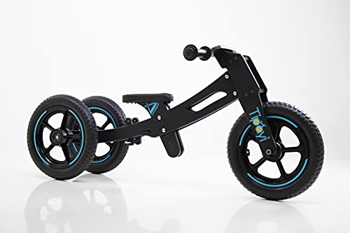 Vamshycle Tipayi Balance Bike for Young Children (3in1, Neon Blue) 1 to 5 Years