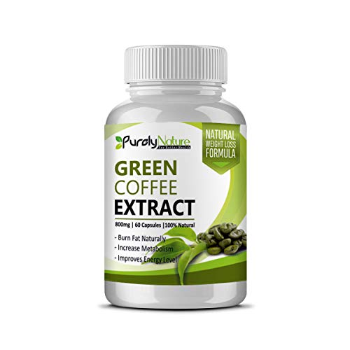 Purely Nature 100% Natural Green Coffee 800 mg (50% cga) 60 capsules Pack of 1