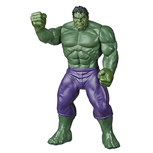 MARVEL Classic Hulk Toy 9.5-Inch Scale Collectible Super Hero Action Figure, Toys for Kids Ages 4 and Up