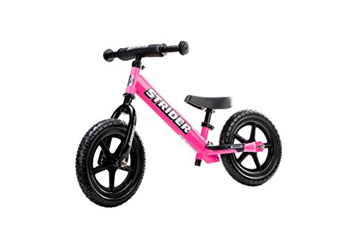 Strider 12-inch No Pedal Balance Steel, Aluminum Sports Bike for 18 Month to 5 Year Old Child (Pink)