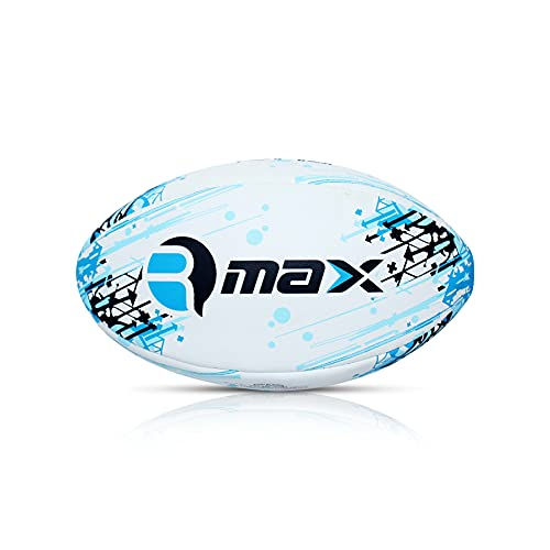Belco Sports RUGSTAR Blue 3Ply Synthetic Rubber Top Grade Rugby Ball Size 5