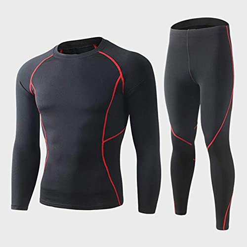 Generic Men Thermal Underwear Set Sweat Shirt Long Johns Bodycon Fit Breathable Running Skiing Winter Sports Gear