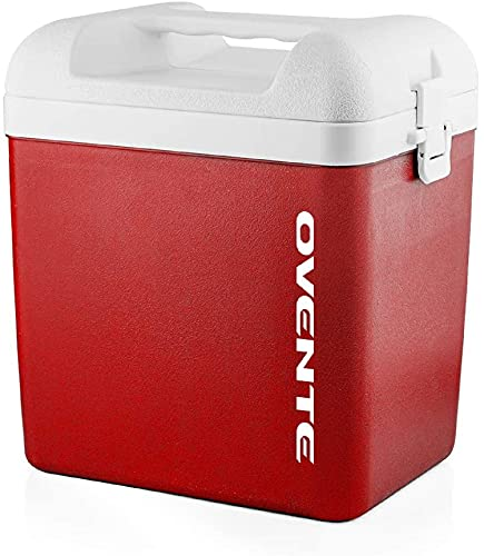 Ovente Portable Outdoor Personal Ice Chest Insulated Cooler Box 6 Quart, Easy Travel Storage Lunchbox with Carrying Handle, Cold Pack Mini Tote for Camping Lunch Beach Picnic or Fishing, Red CP1560R