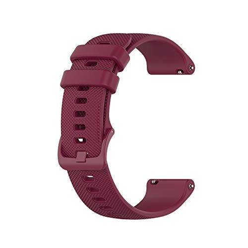 FoundEast Band Compatible with Polar Vantage M Smart Watch Soft Silicone Sports Strap Replacement Watch Band Wristband Bracelet with Clasp for Polar Vantage M Smartwatch (Red)