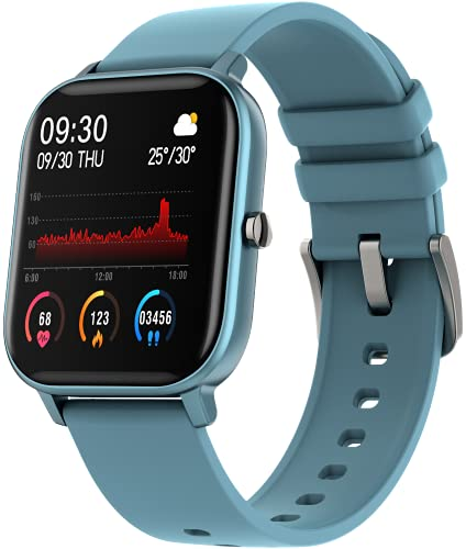 Fire-Boltt SpO2 Full Touch 1.4 inch Smart Watch 400 Nits Peak Brightness Metal Body 8 Days Battery Life with 24*7 Heart Rate Monitoring IPX7 with Blood Oxygen, Fitness, Sports & Sleep Tracking (Blue)
